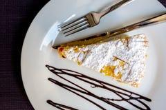 Gâteau fait maison italien, vue supérieure photographie stock