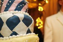 Gâteau fait sur commande Photographie stock