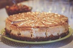 Gâteau frais de caramel Photographie stock