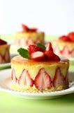 Gâteau français de fraise photo libre de droits