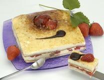 Gâteau fruité de désert Image libre de droits