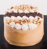 Gâteau gâteaux de chocolat sur le fond Images libres de droits
