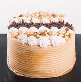 Gâteau gâteaux de chocolat sur le fond Photo libre de droits