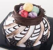 Gâteau gâteaux de chocolat sur le fond Image stock