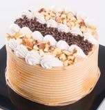 Gâteau gâteaux de chocolat sur le fond Photos libres de droits