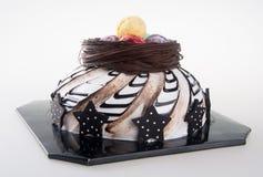Gâteau gâteaux de chocolat sur le fond Photo stock