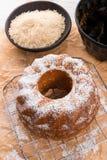 gâteau Gluten-gratuit avec de la farine de riz et le kaymak Image libre de droits
