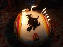 Gâteau hanté Photographie stock
