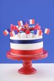 Gâteau heureux de célébration de jour de bastille Photo stock