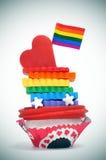 Gâteau homosexuel Photographie stock libre de droits