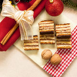 Gâteau hongrois traditionnel 3 de Gerbeaud Photo stock
