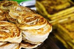 Gâteau indien de BBQ - canai de roti Photographie stock