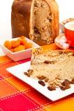 Gâteau italien avec des écrous Images libres de droits