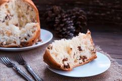 Gâteau italien de Noël Photos libres de droits