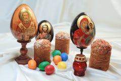 Gâteau Jesus Christ Saint Nicholas Holy Mary d'oeufs de pâques Images stock