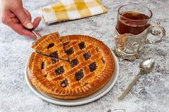 Gâteau Linz de spécialité photo stock