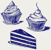 Gâteau mignon Photo libre de droits