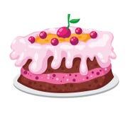 Gâteau mignon illustration de vecteur
