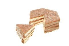 Gâteau mousseline de chocolat Photo libre de droits