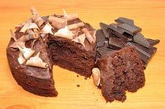 Gâteau mousseline de chocolat Images stock