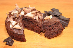 Gâteau mousseline de chocolat Image libre de droits