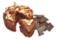 Gâteau mousseline de chocolat Images libres de droits