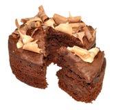 Gâteau mousseline de chocolat Image stock