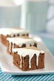 Gâteau mousseline de chocolat Photographie stock libre de droits