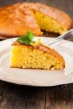 Gâteau mousseline de citron photos libres de droits