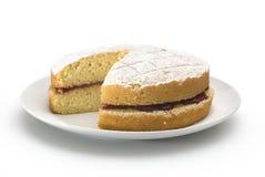 Gâteau mousseline de Victoria images stock