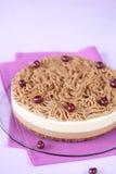Gâteau multicouche de mousse de châtaigne photo stock