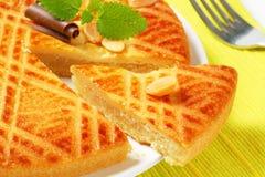 Gâteau néerlandais de beurre (Boterkoek) images stock