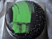 Gâteau noir Photos libres de droits