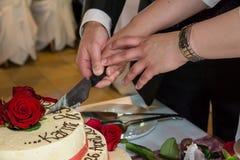 Gâteau nuptiale Photos stock