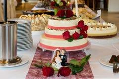 Gâteau nuptiale Photo stock