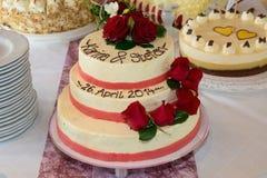 Gâteau nuptiale Image libre de droits