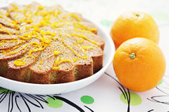 Gâteau orange photographie stock libre de droits