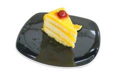 Gâteau orange Photographie stock libre de droits