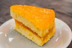 Gâteau orange Photo stock
