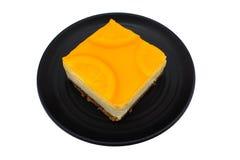 Gâteau orange de fruit Images stock