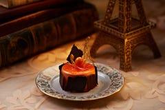 Gâteau orange de mousse Image libre de droits