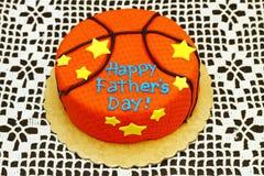 Gâteau orange rond Image libre de droits