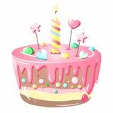 Gâteau original, créatif, rose et délicieux illustration libre de droits