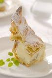 Gâteau polonais avec la crème fouettée Images libres de droits