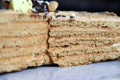 Gâteau posé Photographie stock