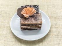 Gâteau posé de café de chocolat Photographie stock libre de droits