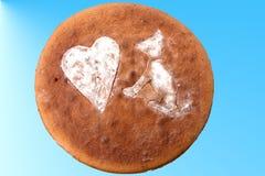 Gâteau pour des amants de chien Images libres de droits