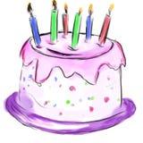 Gâteau pour l'anniversaire photo stock