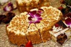 Gâteau pour la réception Photos libres de droits