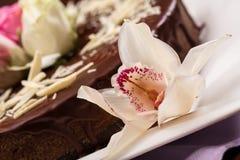 Gâteau pour le dessert Images libres de droits